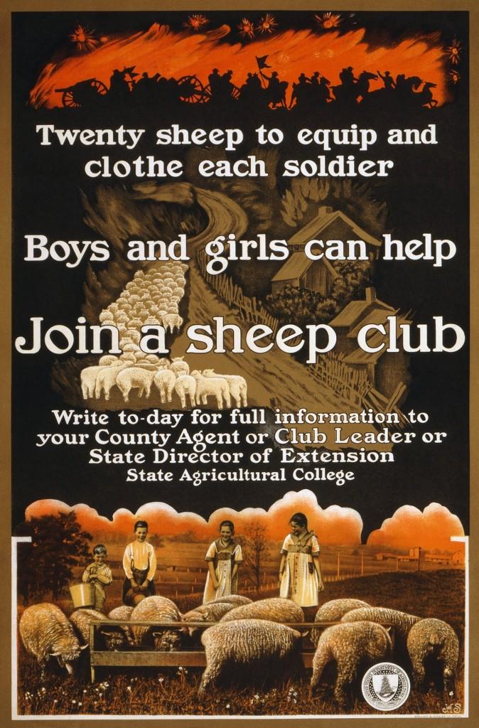 WW1 wool poster