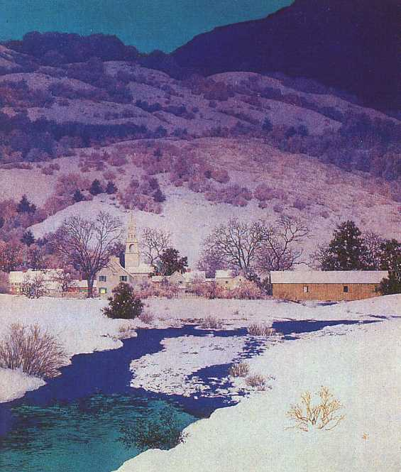 image Maxfield Parrish Christmas Eve